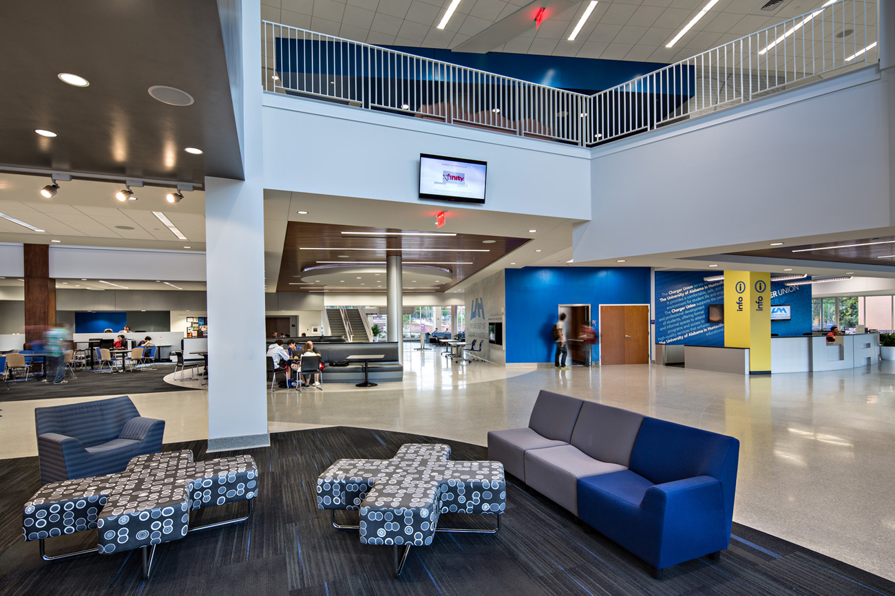 TURNERBATSON Architects Higher Education Architecture -UAH Charger Student Union7