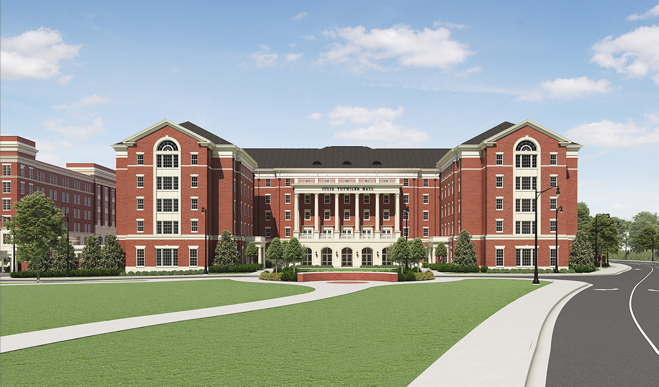University of Alabama Tutwiler Residence Hall via turnerbatson architecture 2
