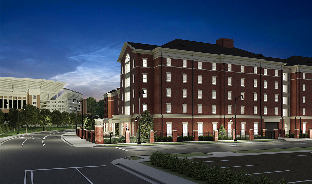 University of Alabama Tutwiler Residence Hall via turnerbatson architecture 5