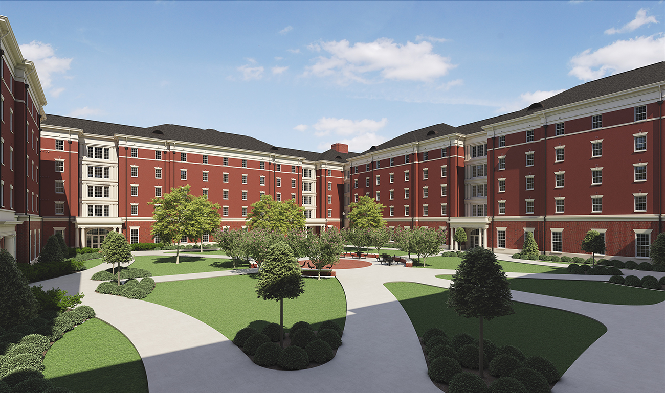 University of Alabama Tutwiler Residence Hall via turnerbatson architecture 6