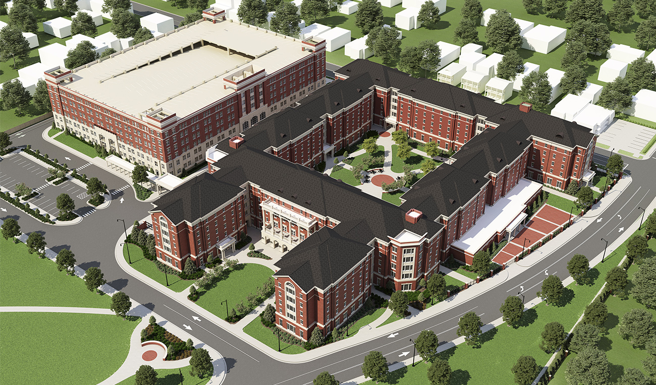 University of Alabama Tutwiler Residence Hall via turnerbatson architecture