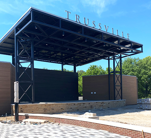 downtown trussville entertainment district turnerbatson architecture stage new