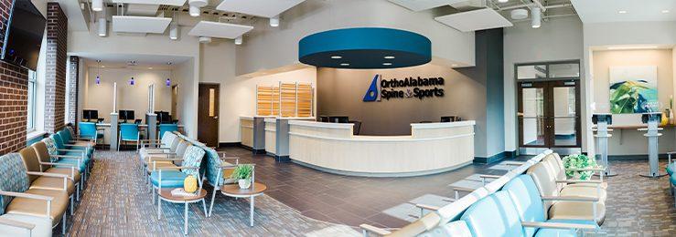 OrthoAlabama Spine and Sports Medicine Hoover Alabama - waiting room